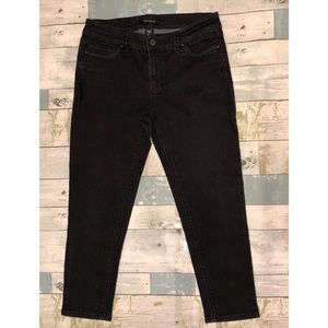 White House Black Market Women's Black Skinny Crop